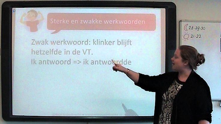 Spelling: sterke en zwakke werkwoorden