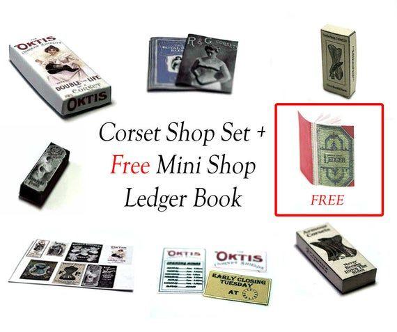 Shop Ledger Dollshouse Miniature