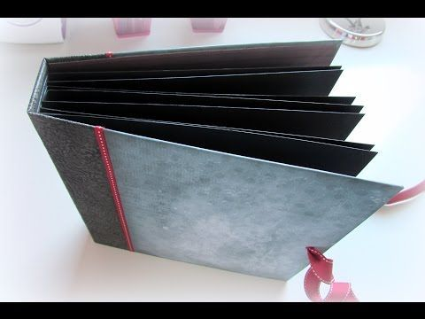 Tutorial decoración página scrap con tarjetas superpuestas. - YouTube
