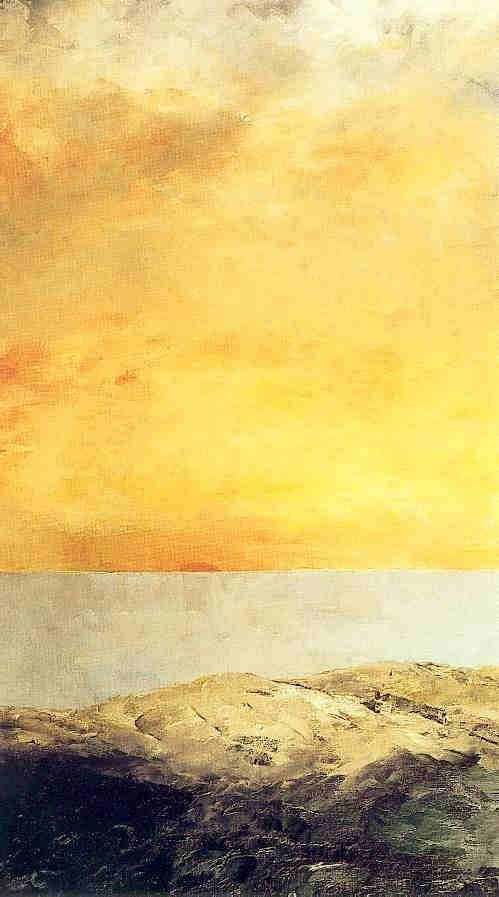 August Strindberg - The sun goes down into the sea