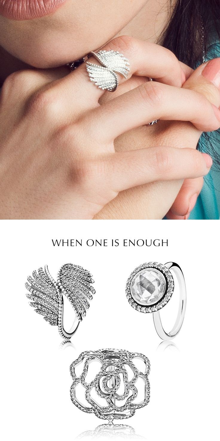 When one is enough! Stand out from the crowd with these impressive statement rings showcasing elements of nature and majestic wonder. Blending the cool style of silver with mosaics of sumptuous stones, they're all you need to ensure that you shine. #PANDORA #PANDORAmagazine #PANDORAring