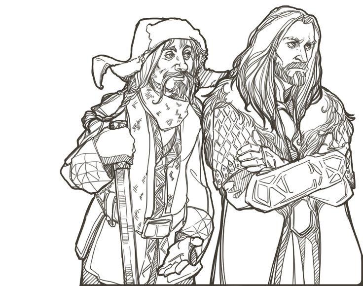 hobbit coloring pages bing images - Hobbit Dwarves Coloring Pages
