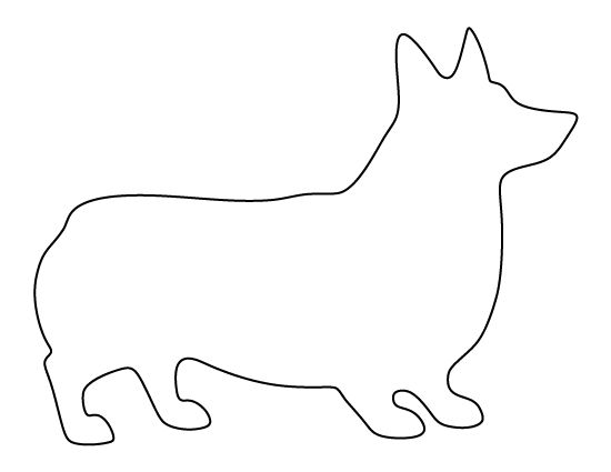 Corgi pattern. Use the printable outline for crafts, creating stencils, scrapbooking, and more. Free PDF template to download and print at http://patternuniverse.com/download/corgi-pattern/