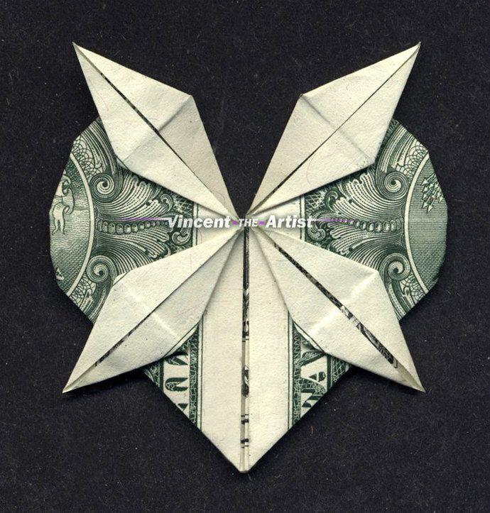 HEART w/ 4-point Star Money Origami – Dollar Bill Art
