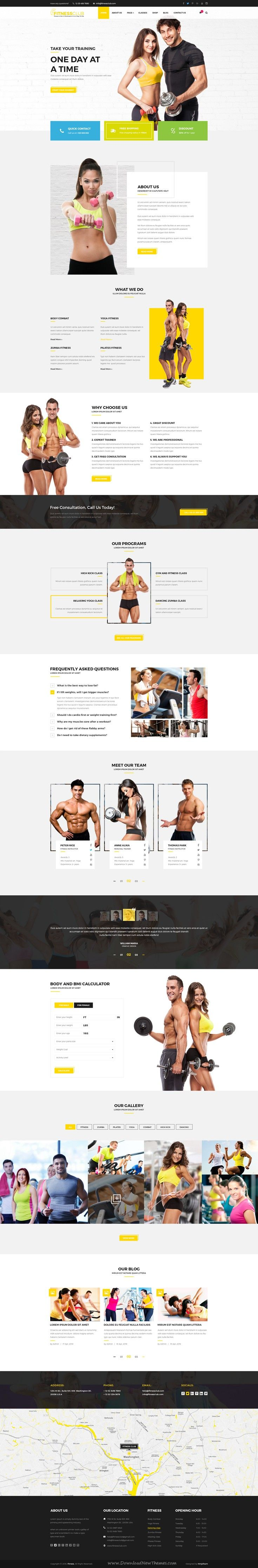 Fitness Club is a modern PSD #template for gym and #fitness services #website. It has 4 stunning homepage with 39 PSD files.