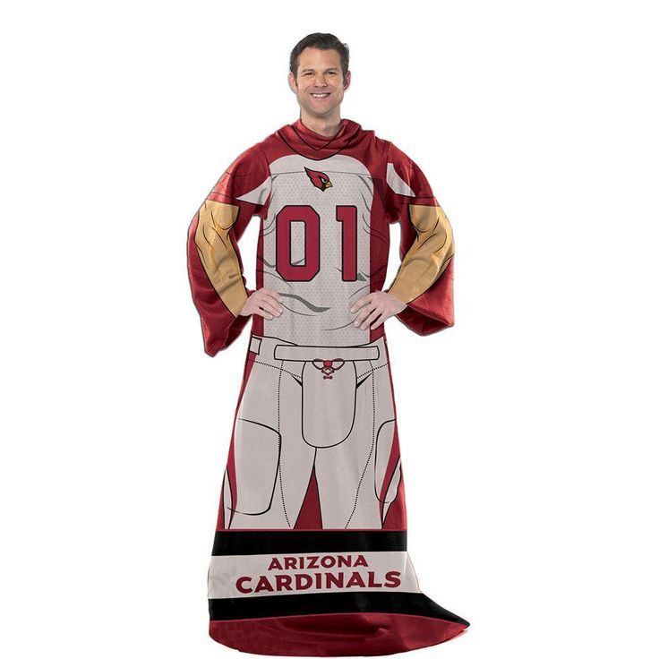 Arizona Cardinals NFL Uniform Comfy Throw Blanket w/ Sleeves