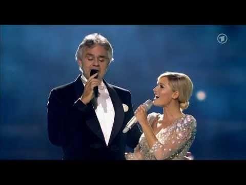 Helene Fischer und Andrea Bocelli