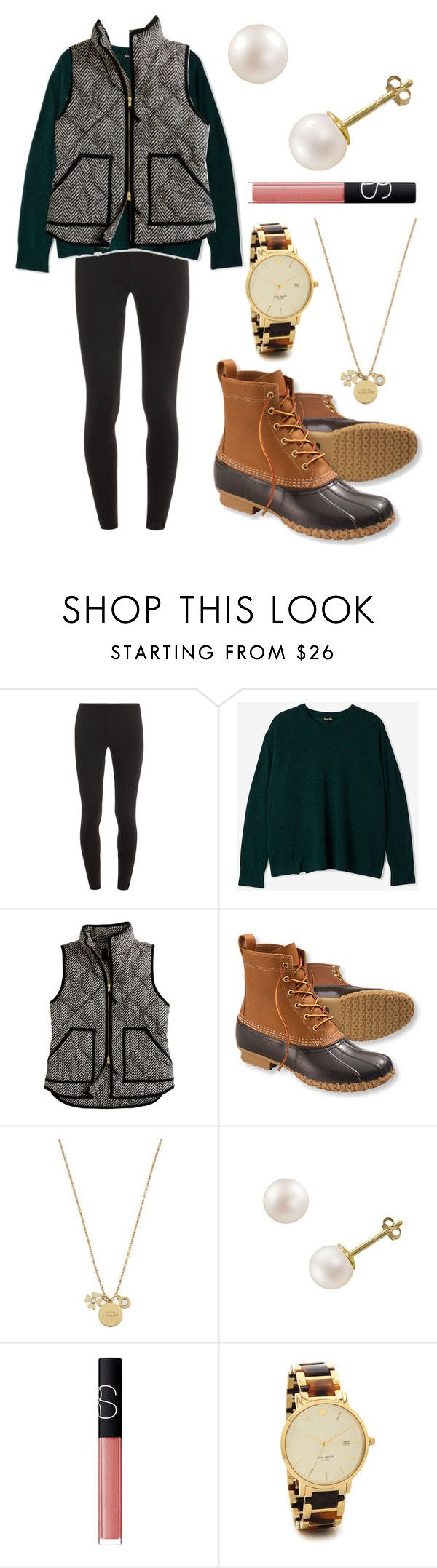"""""""All the small things"""" by emmacaseyyyy ❤ liked on Polyvore featuring Splendid, Steven Alan, J.Crew, L.L.Bean, Kate Spade, PearLustre by Imperial and NARS Cosmetics"""