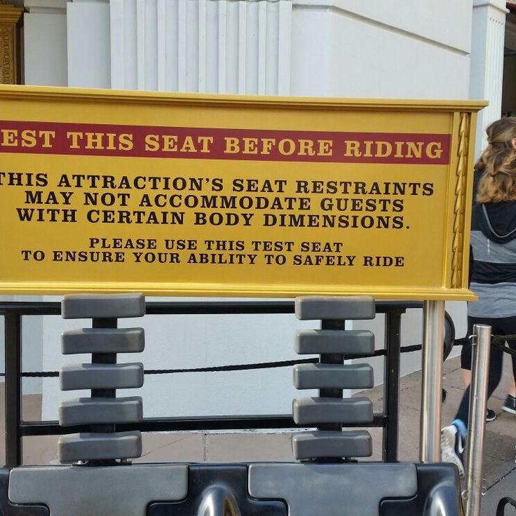 Seat restrictions, Universal Studios