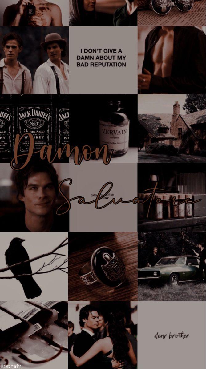 Damon Salvatore Collage Wallpaper Vampire Diaries Wallpaper Vampire Diaries Damon Damon Salvatore Vampire Diaries