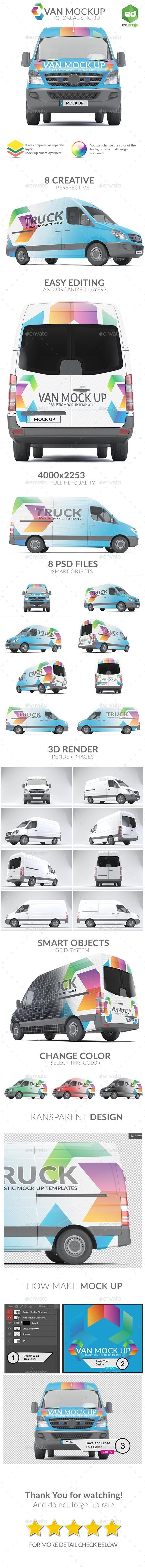 Van Mock Up Set 01 For 8 Graphicriver Mockup Psd Graphicriver Vehiclemockup Bestdesignresources Mockup Mockup Design Van
