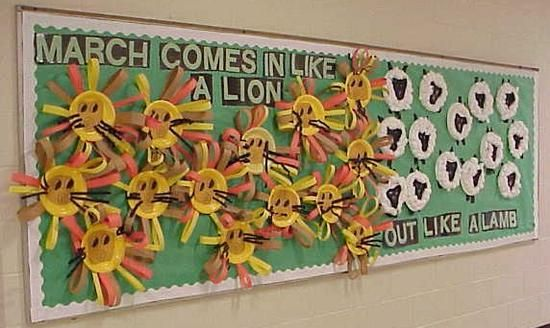 Legend of the Lion & Lamb | March Bulletin Board