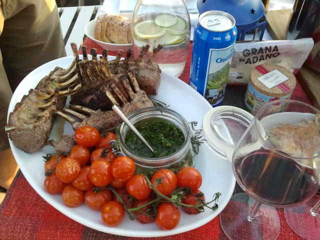 2013-08-17 Hopping Dinner Zürich - Hauptgang bei Sam & Maja