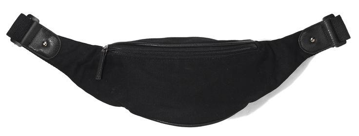 tb-p3-011, czarna, biodrowa torebka