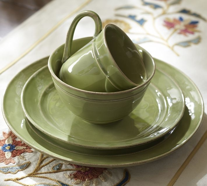 Cambria Dinnerware Mint Pottery Barn New House Old