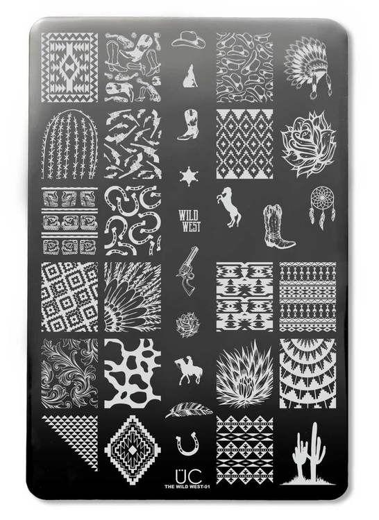 nail stamp art, stamp nail, nail art, diy, nail stamp plates, stamp plates, uberchic, uberchic beauty, wild west nail art, western nail, western, cowgirl nail art, cow print