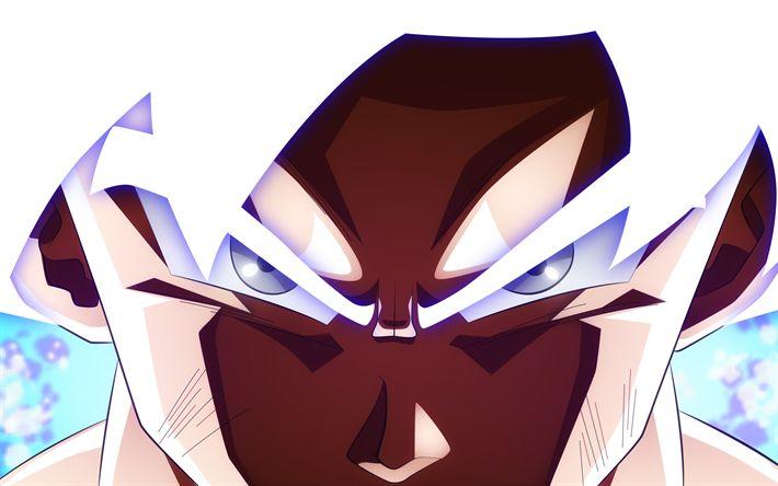 Download wallpapers Ultra Instinct Goku, 4k, Dragon Ball, art, DBS, Goku, Dragon Ball Super