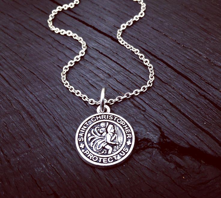 St. Christopher Necklace | Saint Christopher Necklace | Patron Saint of Travelers | Patron Saint of Children | Catholic Saint Necklace Gift