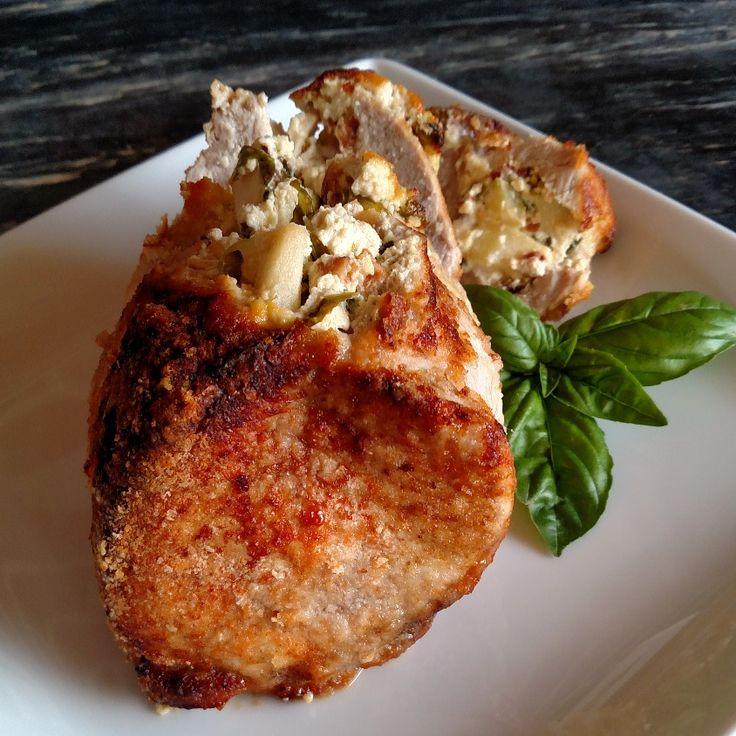 Maple Apple Stuffed Pork Loin