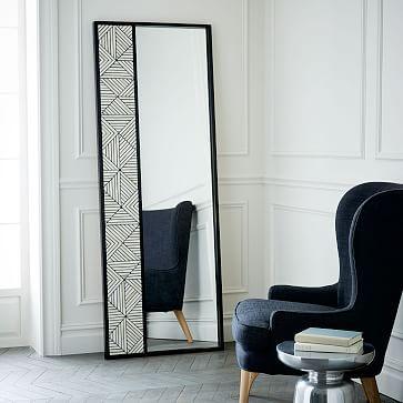 Triangle Bone Inlaid Floor Mirror #westelm