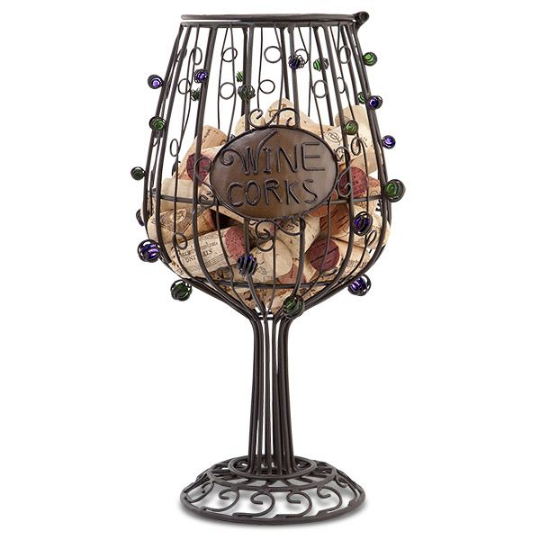 Wine cork cage: Wine Corks, Glasses, Gift Ideas, Wine Glass, Cork Cage