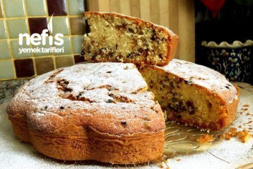 Puf Puf Şölen Kek (Kuru Meyveli Damla Çikolatalı-Püf Noktalarıyla)