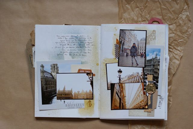 **Mon scrap par Liliema**: ~~ Carnet de Voyage Bruxelles ~~