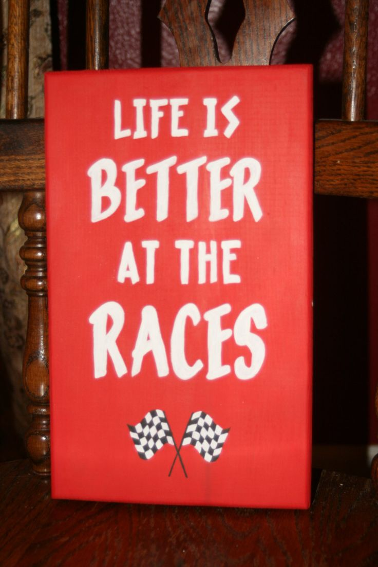 Handpainted Life is BETTER at the RACES  / Racing by HandmadeNWA, $23.00