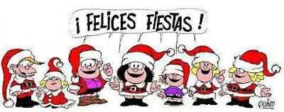 Felices Fiestas Mafalda y amigos