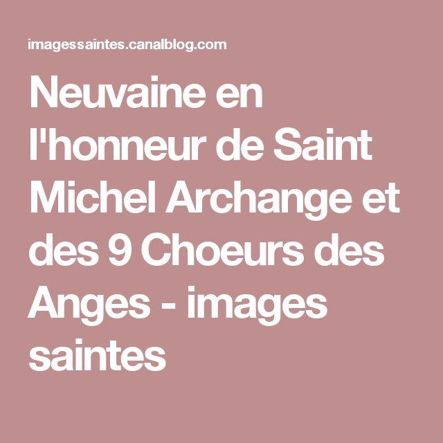Neuvaine en l'honneur de Saint Michel Archange et des 9 Choeurs des Anges - images saintes