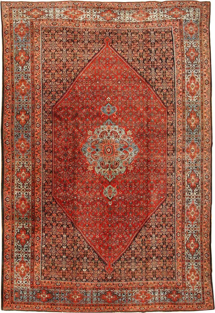 Antique Bidjar Persian Rug #42158 Http://nazmiyalantiquerugs.com/antique