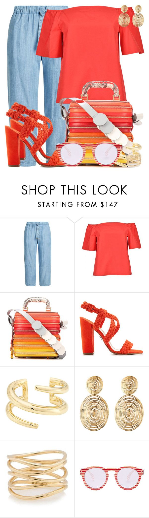 """""""Anya Hindmarch Circle Six Zip Stack Leather Shoulder Bag"""" by dazzlious ❤ liked on Polyvore featuring Steffen Schraut, Alice + Olivia, Anya Hindmarch, Paul Andrew, Jennifer Fisher, Gas Bijoux, Tiffany & Co. and Illesteva"""