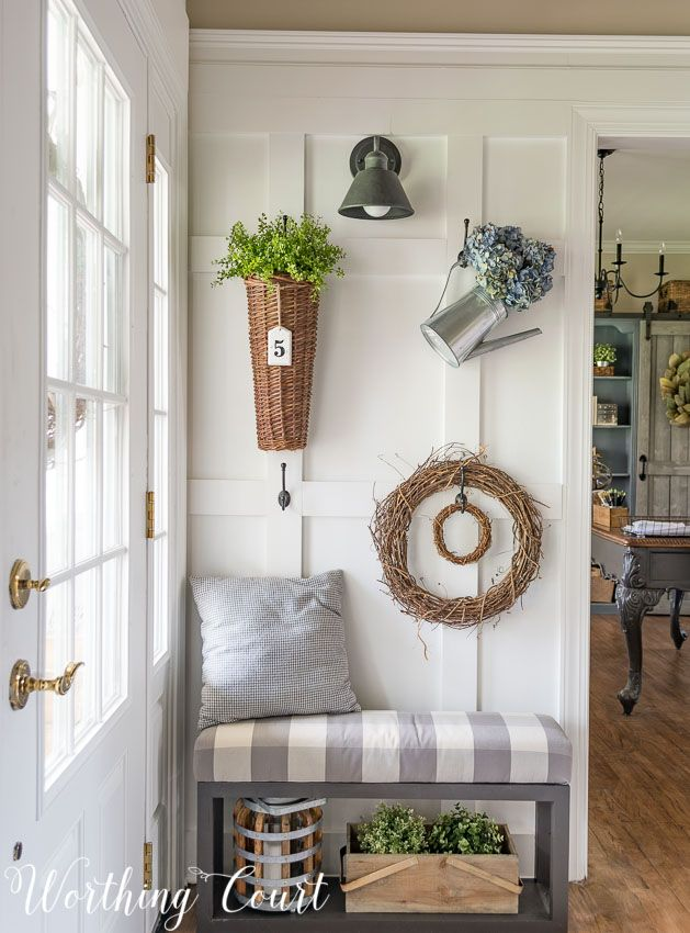 Foyer Updates And How To Style A Farmhouse Board Batten Wall