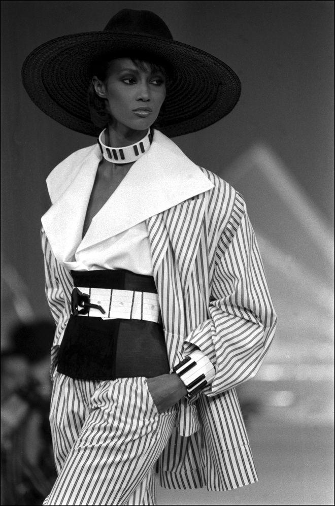 Iman Bowie au défilé Chloé printemps-été 1982
