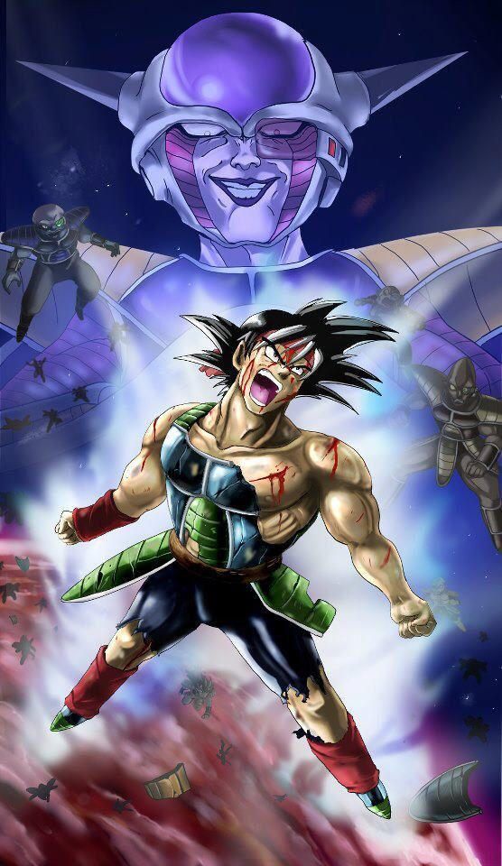 Bardock standing up to Frieza for the sake of his people