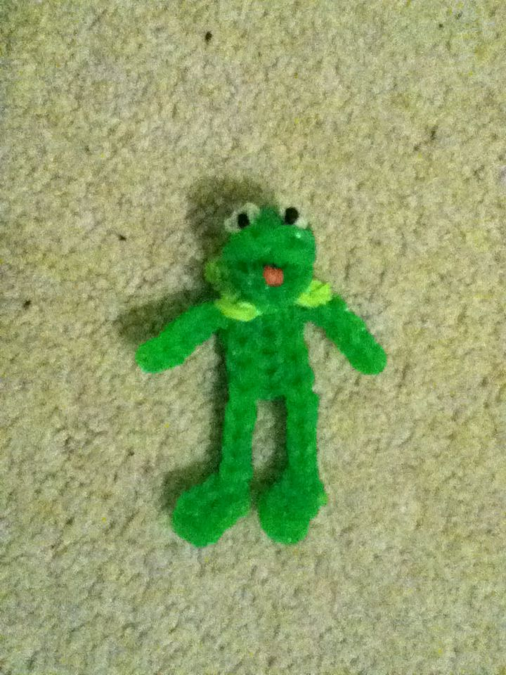 Kermit The Frog Out Of Rainbow Loom Rubber Band