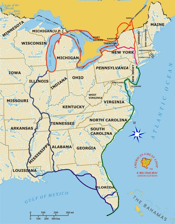 Best Great Loop Maps And Burgees Images On Pinterest Maps - Us intracoastal waterway map