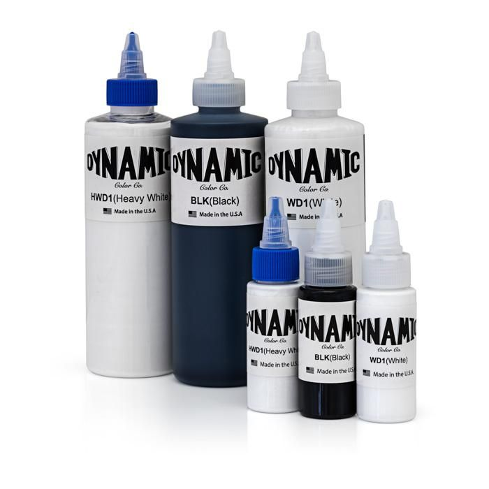 Dynamic Color Co Black And White Tattoo Inks Theneedleparlor Com The Needle Parlor Dynamic Tattoo Ink Color Co White Ink