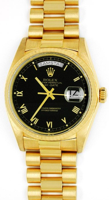 Foto 1, Orig. Rolex Day-Date Gelbgold Herren-Armbanduhr Geprüft, U1789