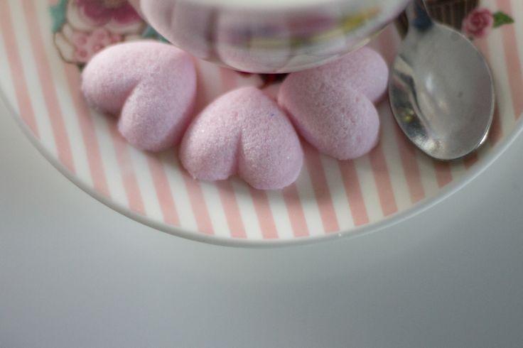 delicate pink sugar hearts