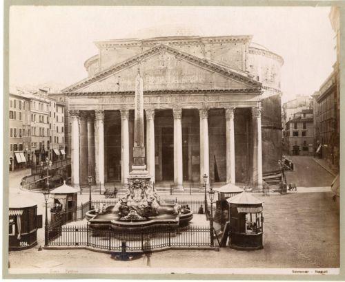 Sommer-Italie-Roma-Panteon-Vintage-albumen-print-Tirage-albumine-20x25