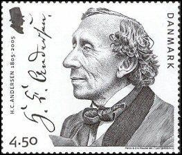 H C Andersen stamp from Danmark;