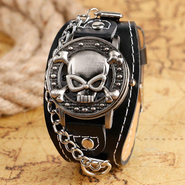 Skull Face Round Design Wristwatch //Price: $9.99 & FREE Shipping //     #skull #skullinspiration #skullobsession #skulls