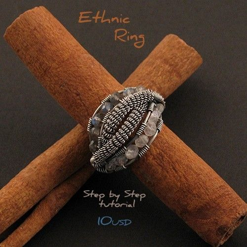 Ethnic Ring Step by Step tutorial by Iza Malczyk - on Etsy $10.00