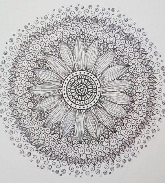 ZEN Mandalas Coloring Book Zen Tangle style Art by ChubbyMermaid. I could get lost in the grays and white. Almost a pity to color it, but then I would love to do it.