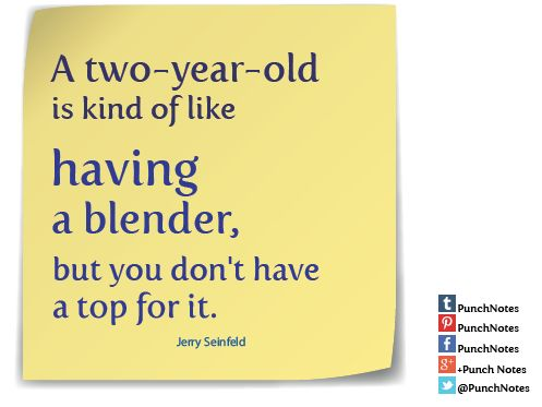 Two-Year-Old Blender