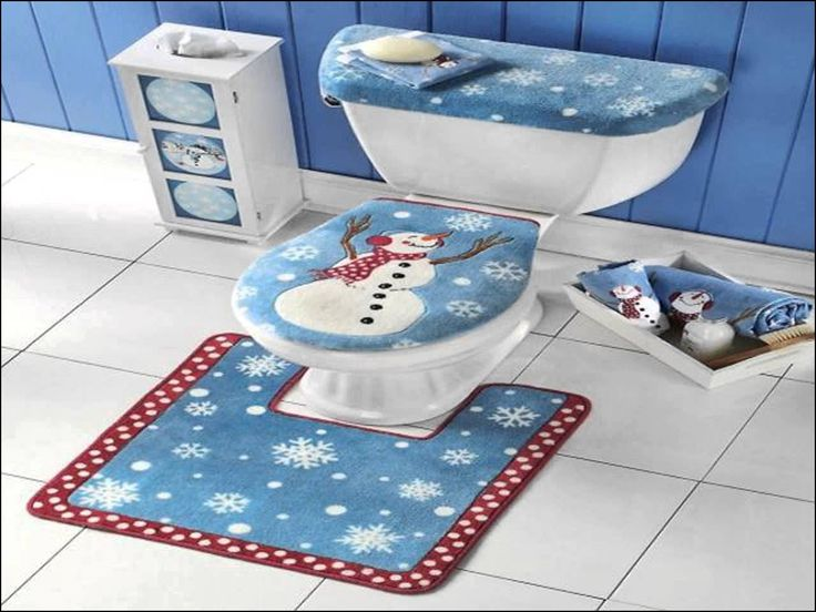 Elongated toilet Seat Cover and Rug Set