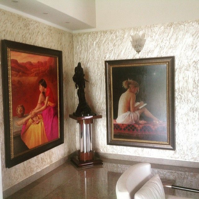 Textura pared en sala