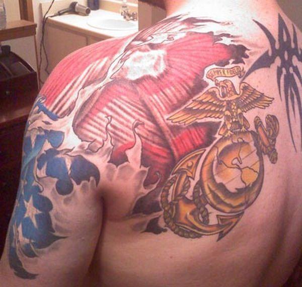 U.S. Marine tattoo