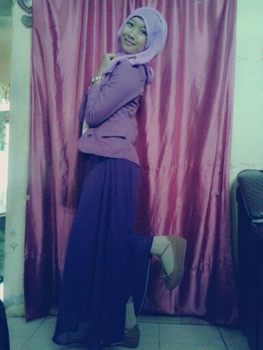 #me #hijabers #fashion #purple #pinit #follow #indonesia